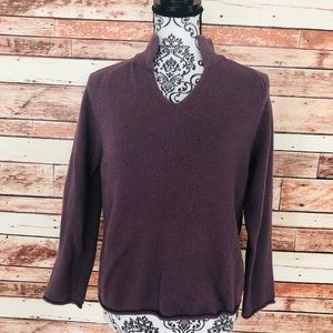 J Jill purple sweater with elbow patches size M